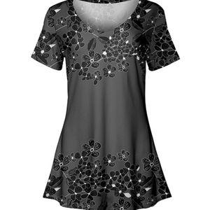 NWT Short Sleeve V-Neck Tunic, Size 1X
